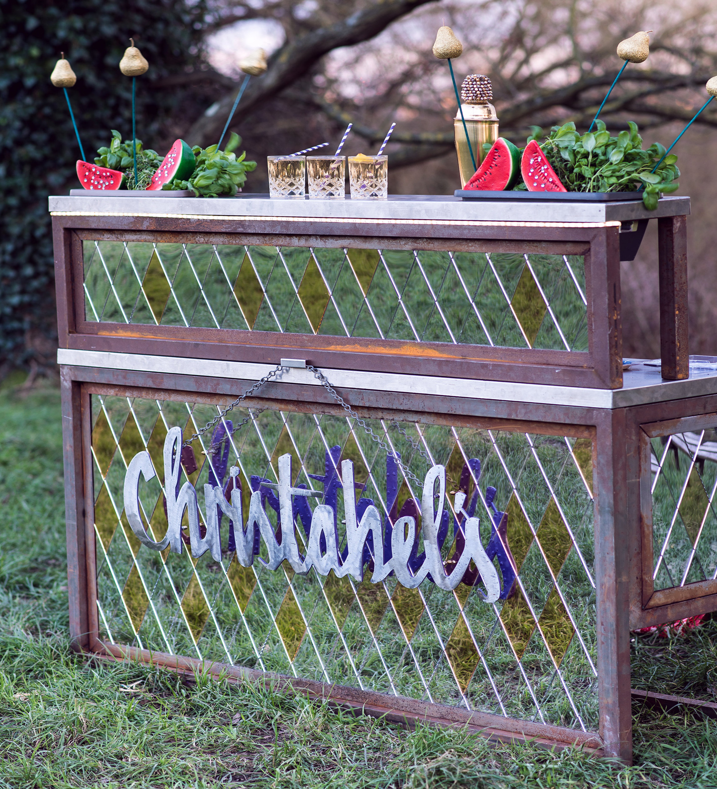 christabel's metal mobile cocktail bar