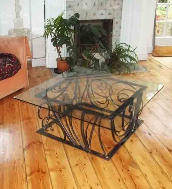 ornate metal coffee table