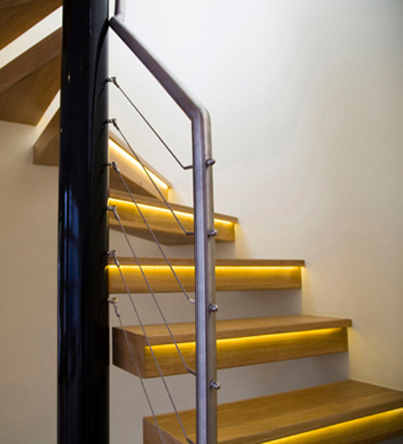 stainless steel and wire balustrade