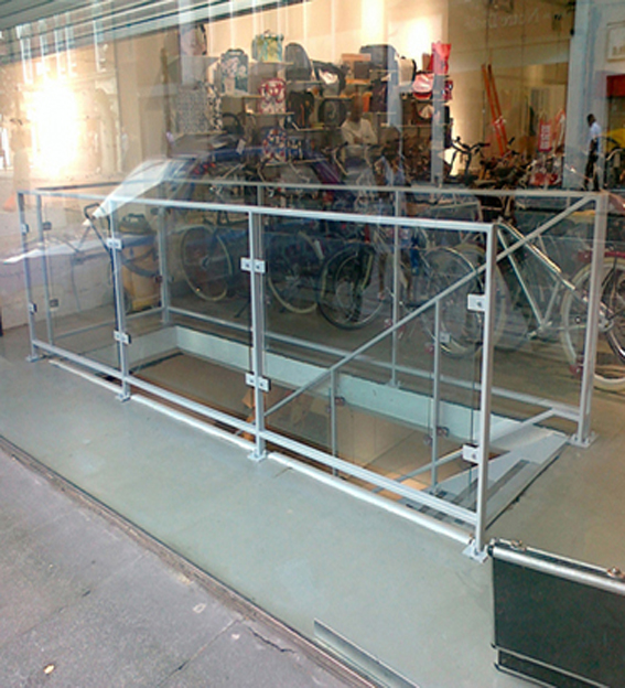 steel glass balustrade