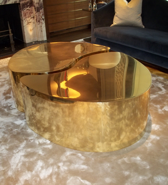 ying yang Brass Tables